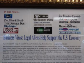 Image for Business Visas: Legal Aliens Help Support the U.S. Economy post